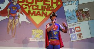 Superhero Welcome for Super Cycling Man